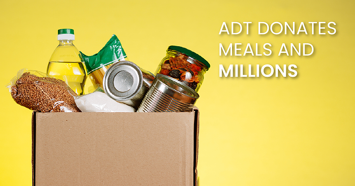 ADT Donates meals and millions (fb)