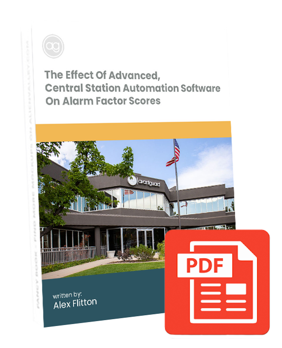 white paper, central station automation, alarm factor scores