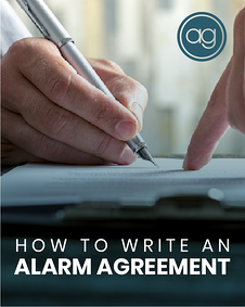how to write an alarm agreement_si