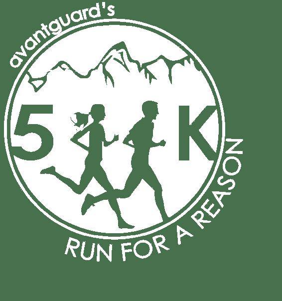 5k logo white