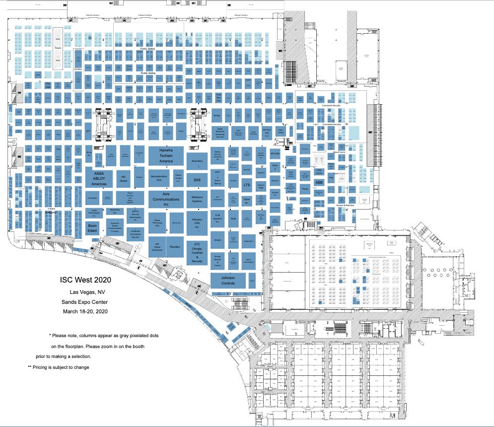 isc west 2020 floor plan
