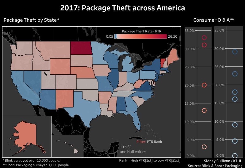 Package Theft across America 2017