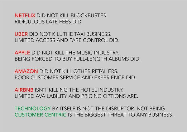 disruption infographic