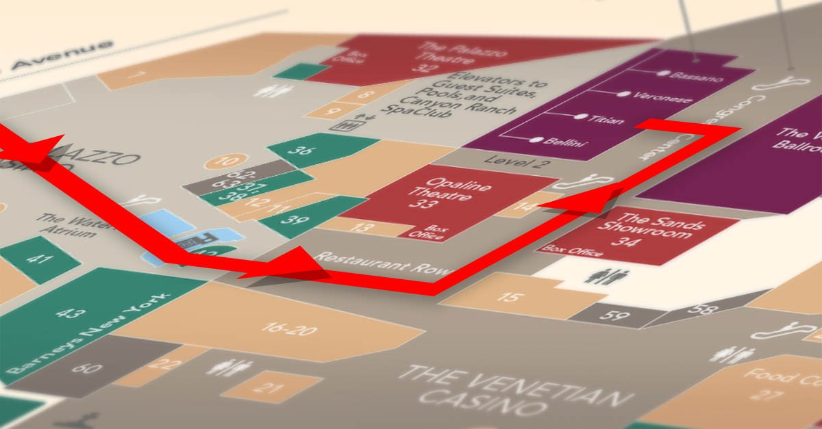isc west, map, route