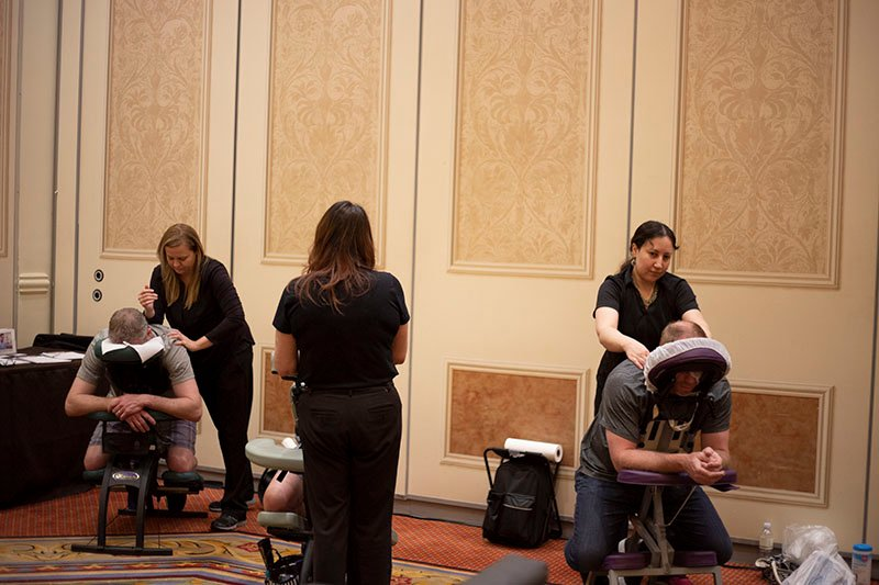 ISC West, massage, avantguard relax event