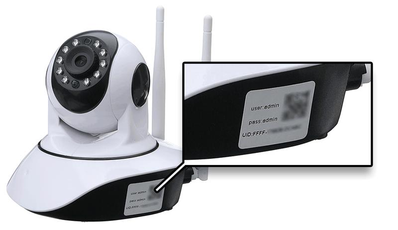security camera, UID, serial number