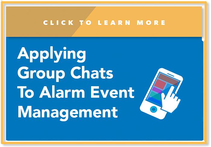 AG Chat, alarm event management