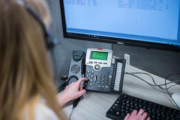 phone, monitoring station, operator