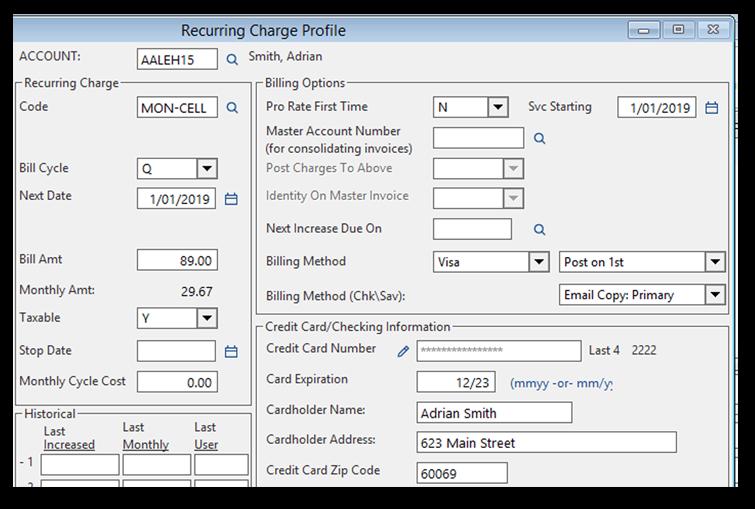 cornerstone billing solutions, rmr, software, integration
