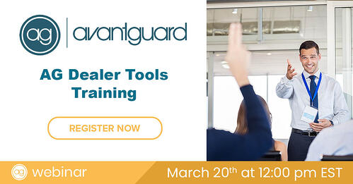 Dealer Tools, AG Webinar