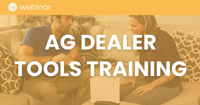 dealer tools, training, ag webinar