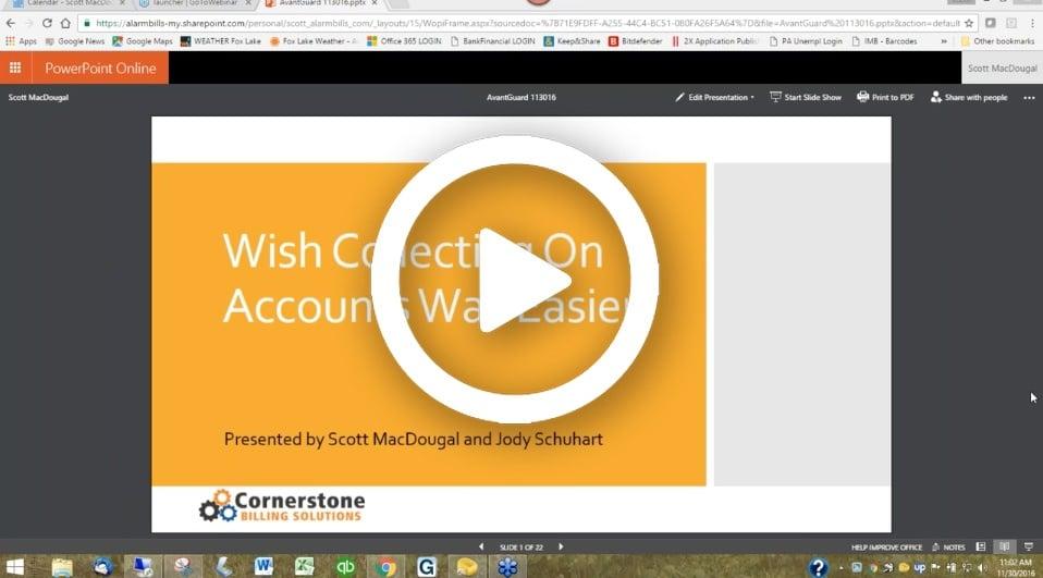 AG Webinar - Cornerstone Billing