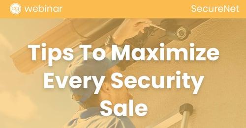 SecureNet, AG Webinar, Sales Tips