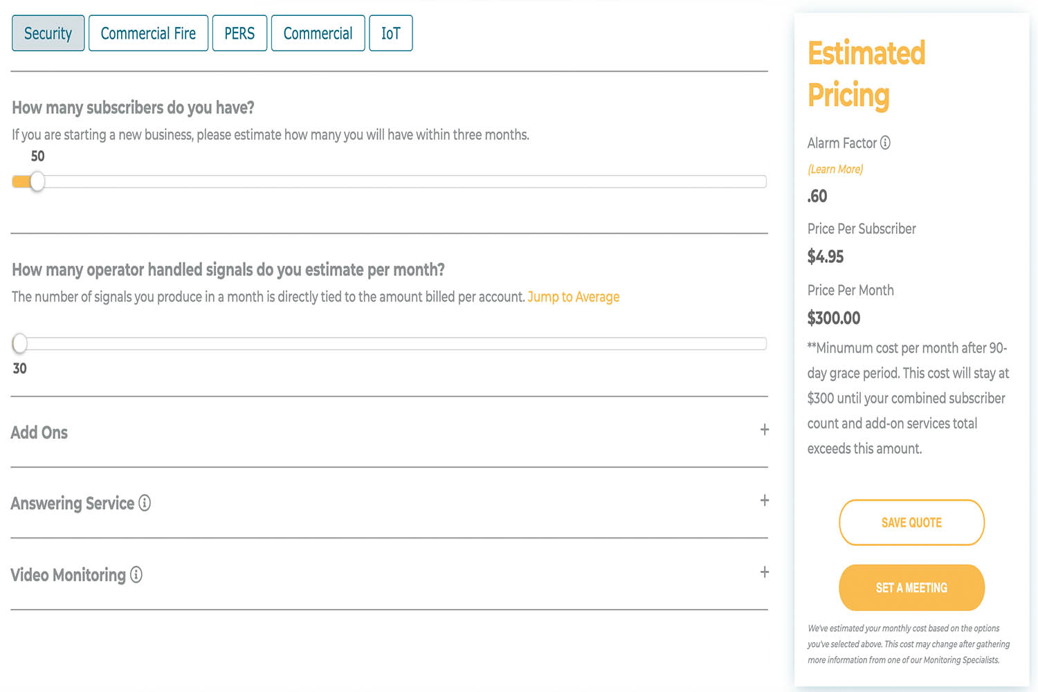 pricing tool preview
