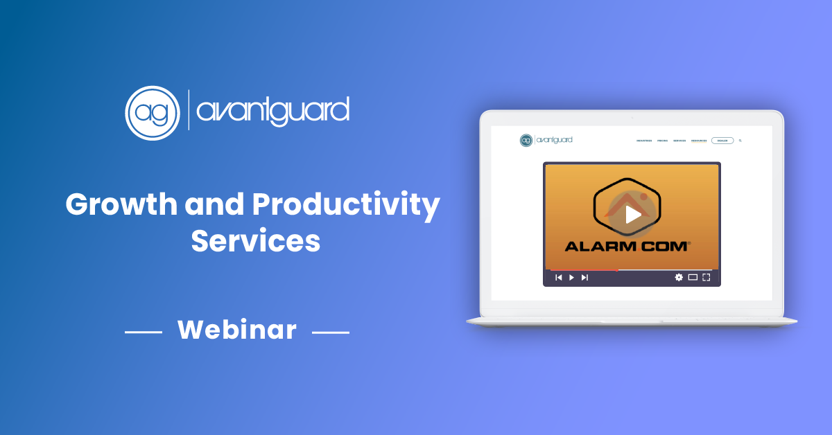 alarm.com, ag webinar, growth and productivity services