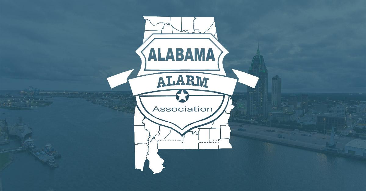 alabama alarm association, logo