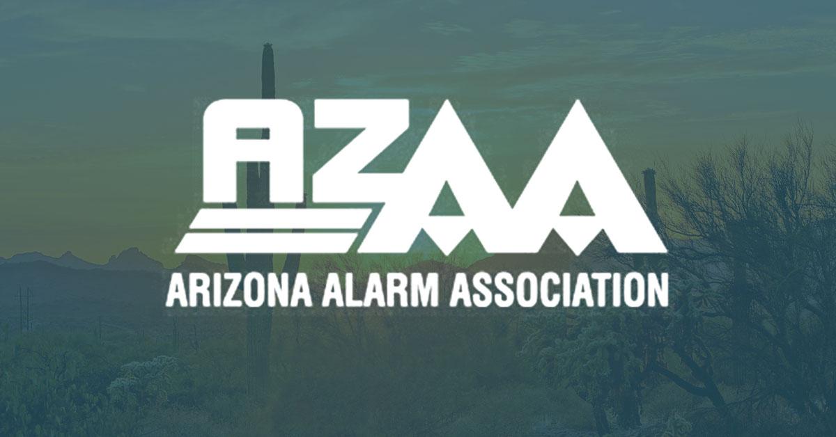 arizona alarm association, logo