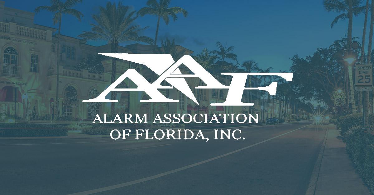 alarm association of florida, logo, AAF
