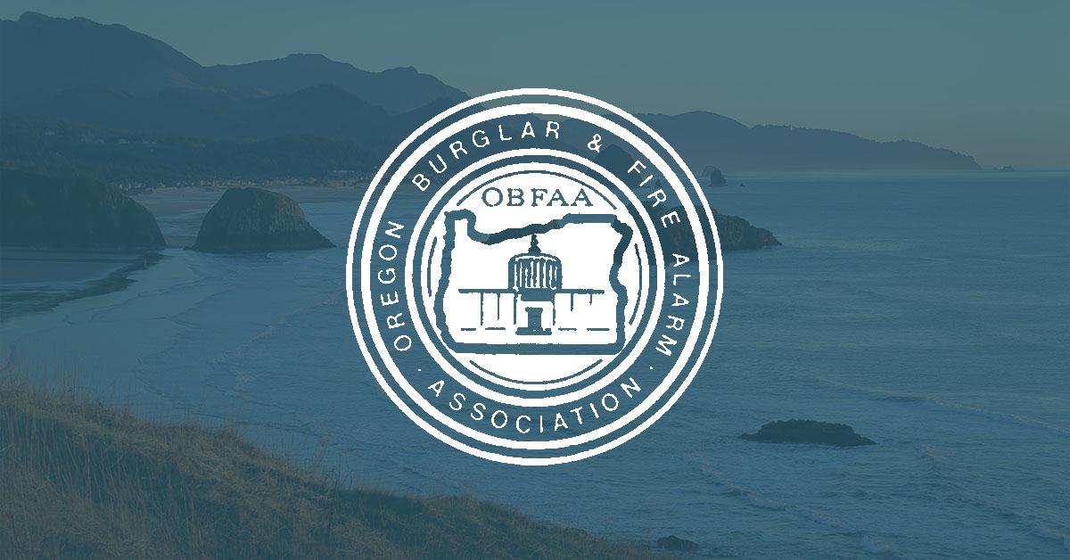 oregon burglar & fire alarm association, OBFAA, logo