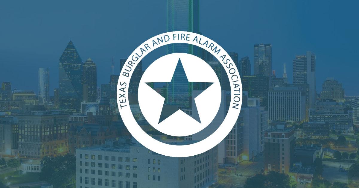 Texas Burglar & Fire Alarm Association, TBFAA, logo