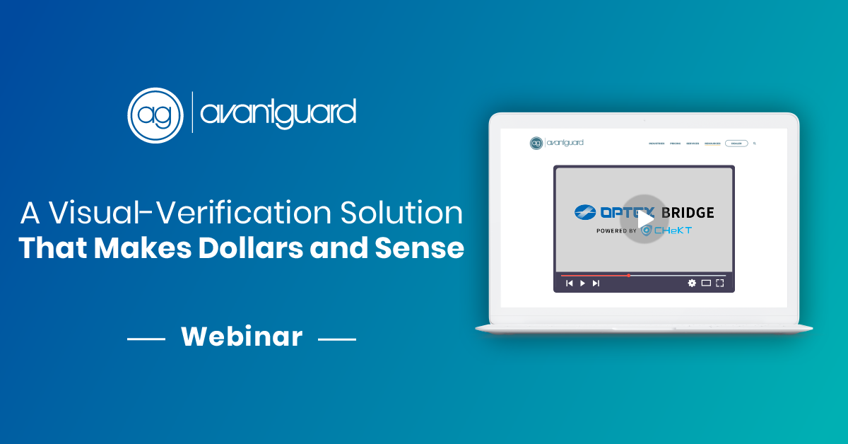 Webinar, A visual verification solution that makes dollars and sense